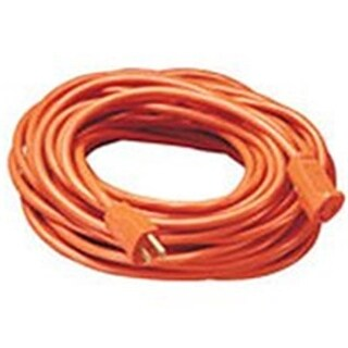Coleman Cable 517 3.33 x 50 Ft. Extension Cord Orange