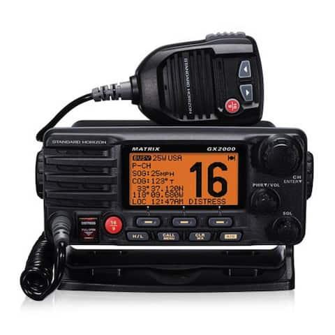 Standard Horizon GX2000 Matrix VHF Radio -Black Marine Tranceiver with AIS Input - Black