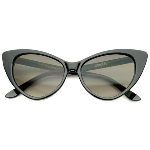 Women's Retro Oversized High Point Cat Eye Sunglasses 55Mm