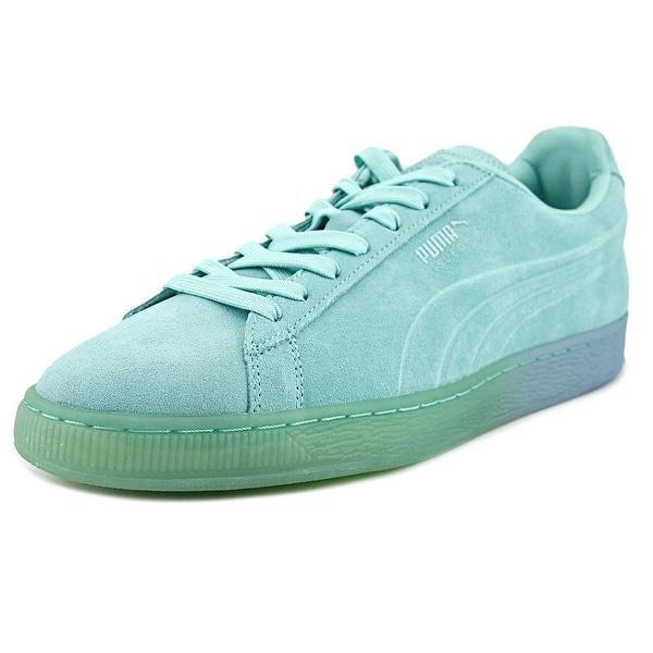 Puma Suede Emboss Iced Fade Men Round Toe Suede Blue Sneakers