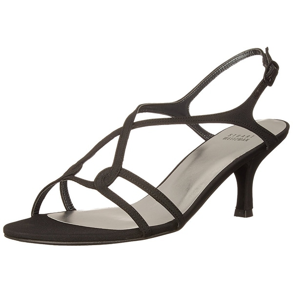 Stuart Weitzman NEW Black Women's Shoes Size 6.5N Reversal Sandal