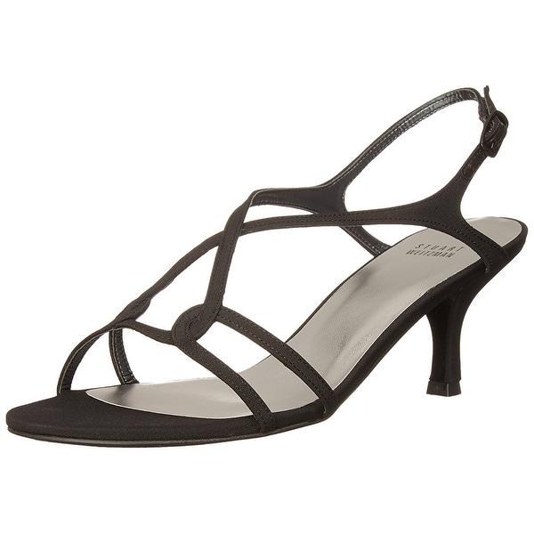 Stuart Weitzman NEW Black Women's Shoes Size 6N Reversal Sandal