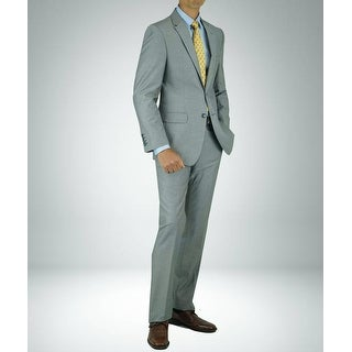 Link to Carlo Studio Light Grey Bird's Eye Modern-Fit Suit Similar Items in Suits & Suit Separates