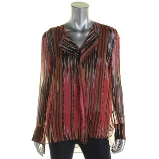 Kobi Halperin Womens Blouse Silk Striped