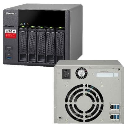 Qnap - Ts-563-8G-Us - 5 Bay Amd 64Bit X86 Based Nas
