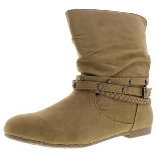 Dolce by Mojo Moxy Womens JoJo Ankle Boots Faux Suede Buckle Detail