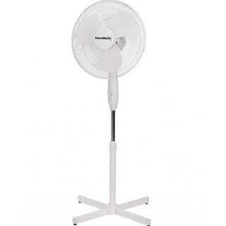 """Homebasix FS-40E 3-Speed Oscillating Floor Fan, 16"""""""