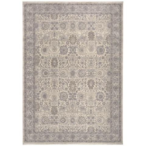 """Gilford Rustic Persian Farmhouse Rug, Beige/Warm Gray, 2ft - 8in x 12ft, Runner - 9'3"""" x 12'3"""""""