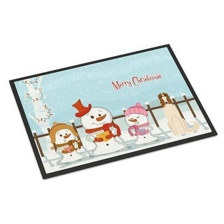 Carolines Treasures BB2354MAT Merry Christmas Carolers Borzoi Indoor or Outdoor Mat 18 x 0.25 x 27 in.