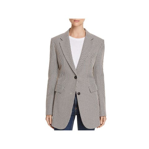 Theory Womens Two-Button Blazer Office Wear Printed