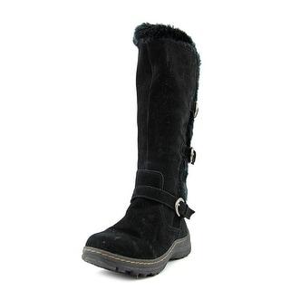 Baretraps Ayden Women Round Toe Suede Black Snow Boot