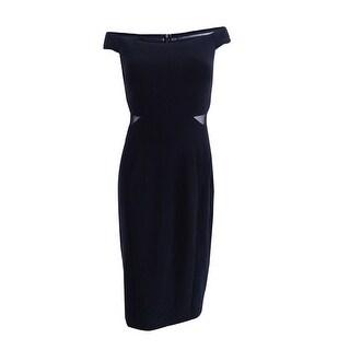 Xscape Women's Off-The-Shoulder Illusion Sheath Dress - Black
