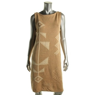 Lauren Ralph Lauren Womens Knit Sleeveless Sweaterdress - L