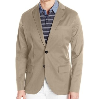 Nautica NEW Beige Mens Size Large L Two Button Twill Classic Blazer