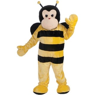 Forum Novelties Deluxe Plush Bee Mascot Adult Costume - Yellow/Black - Standard