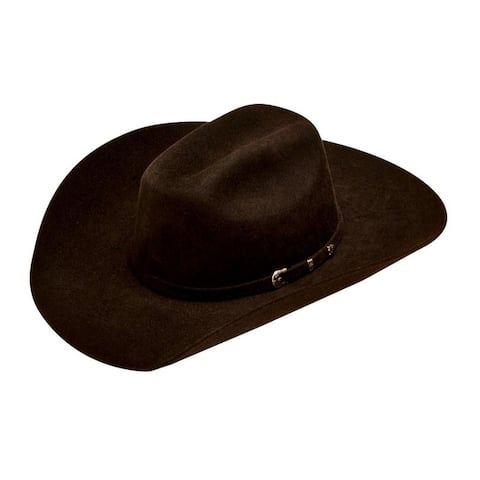 Ariat Western Cowboy Hat Kids Wool Self Band 3 Piece Buckle