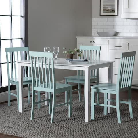 Porch & Den Pompton White and Sage Green 5-piece Dining Set