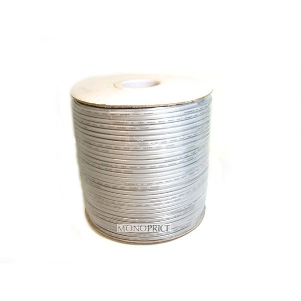 Monoprice 1000ft 4 Conductor 26AWG Stranded Bulk Phone Cable - Silver