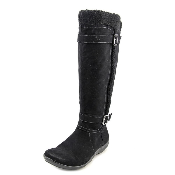Naturalizer Frost Wide Calf Women Round Toe Synthetic Black Winter Boot