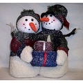 14 Inch Snowman Couple Indoor Holiday Decor Set