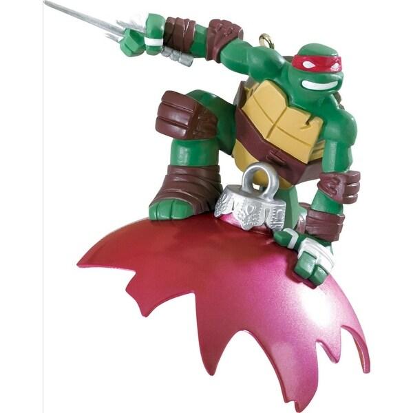 """3.75"""" Carlton Cards Heirloom Teenage Mutant Ninja Turtles Raphael Christmas Ornament - RED"""
