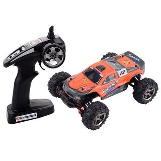 Costway 1:24 2.4G 4WD High Speed RC Racing Car Radio Remote Control Off Road Buggy - Orange