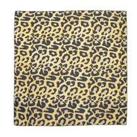 CTM® Women's Cotton Leopard Print Bandanas - One size