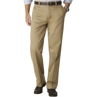 Dockers Big and Tall Signature Khaki Flat Front Chinos Pants Beige 46W x 32L - 46