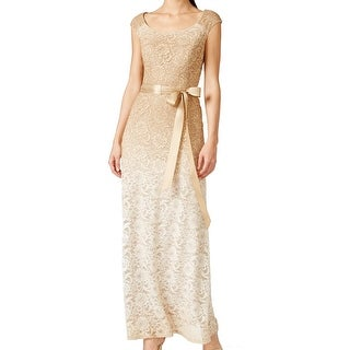 R M Richards NEW Beige Glitter Ombre Women's Size 14 Ball Gown
