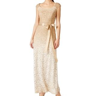 R M Richards NEW Beige Glitter Ombre Women's Size 14 Ball Gown