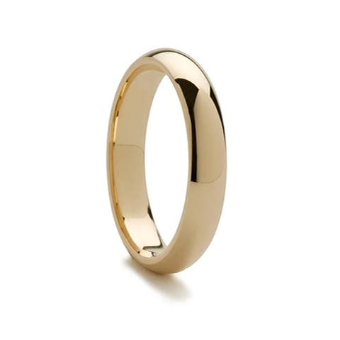 14k Yellow Gold Domed Ring with Polished Finish - 5mm