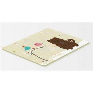 Carolines Treasures BB2613CMT Christmas Presents Between Friends Chow Chow Chocolate Kitchen or Bath Mat 20 x 30