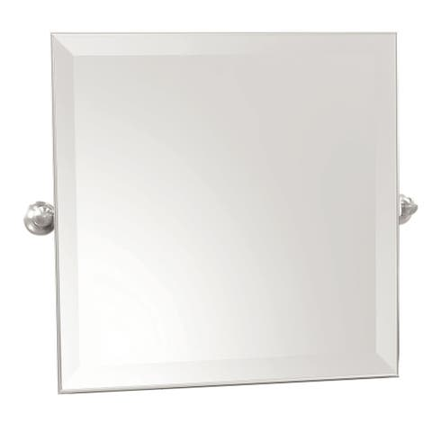"""Ginger 4541 20"""" Square Mirror from the Columnar Collection - Polished Chrome"""