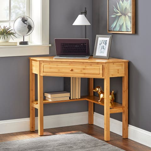 Simple Living Bamboo Corner Desk