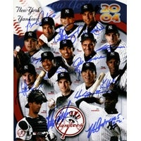 Signed Yankees New York 2004 8x10 By the 2004 Team all the players shown in the photo 14 sigs in al