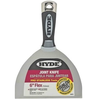 """Hyde 06878 Flexible Pro Stainless Joint Knife, 6"""""""