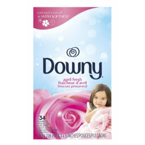 Downy 82329 April Fresh Fabric Softener Dryer Sheets, 34-Count