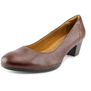 Montana Courtney Women  Round Toe Leather Brown Heels