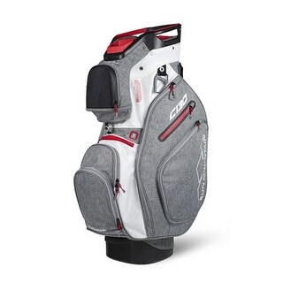 Sun Mountain 2018 C-130 Cart Bag - Charcoal / White / Red - charcoal / white / red