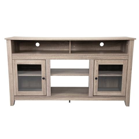 """Rustic 65"""" TV Stand Console Wooden Entertainment Center"""