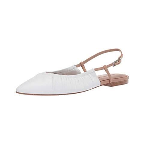 Sigerson Morrison Women's Flat Sandal, White Nude, 10