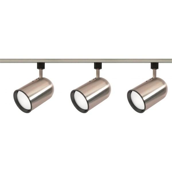 Nuvo Lighting TK342 Three Light R30 Bullet Cylinder Track Kit - Brushed nickel - N/A