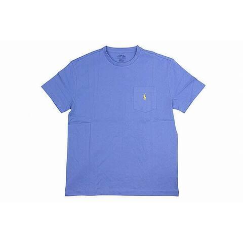 Polo Ralph Lauren Mens T-Shirts Blue Size 2XL Crewneck Pocket Tee
