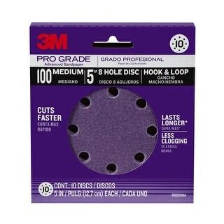 3M 88520NA-9-B Pro Grade 5-Inch 8-Hole Sanding Discs, 100 Grit