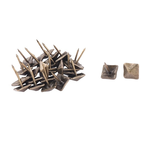 Office Metal Square Door Gate Tack Pushpin Nail 0.7 Inch Height 24pcs