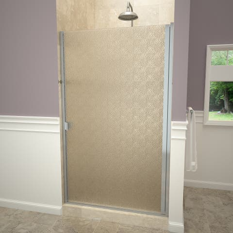 """Tile Redi 10ROLD02865 Redi Swing 65-1/16"""" High x 28-15/16"""" Wide Hinged Framed Shower Door with Frosted Glass"""