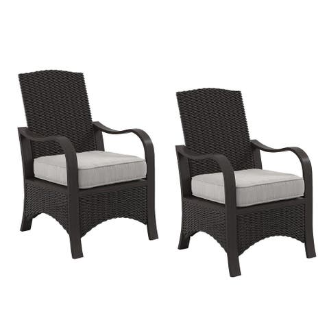 Marsh Creek Outdoor Dining Chairs Set of 2 - Gray