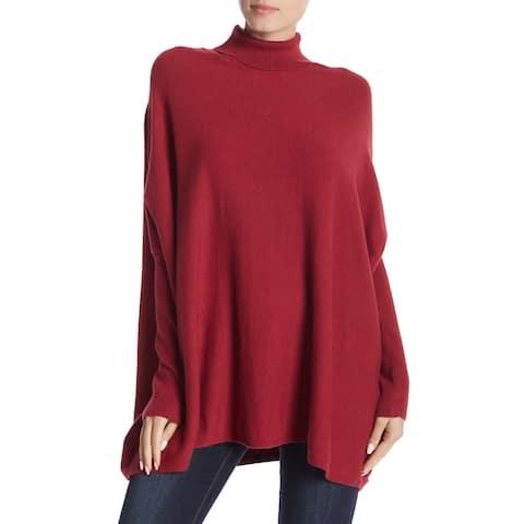 Joseph A. Womens Sweater Large Turtleneck Mock Oversized