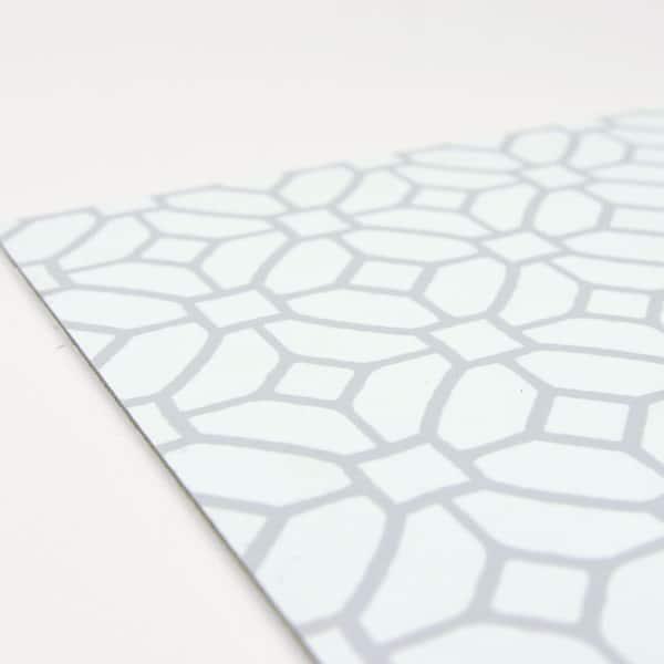 FloorPops FP3592 Athena Interlocking Tiles White /& Off-White
