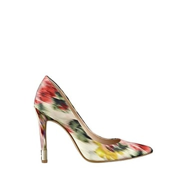 GUESS Womens Babbitta Canvas Pointed Toe Classic Pumps